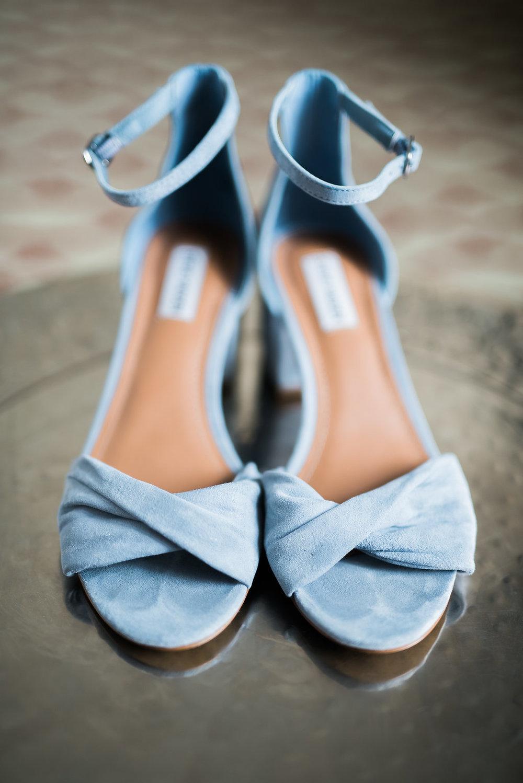 Light Blue Wedding Heels - Minimalist Wedding - Tampa Wedding Venue
