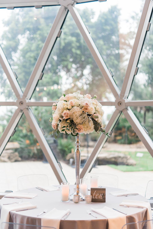 Gorgeous Wedding Centerpieces - Minimalist Wedding - Tampa Wedding Venue