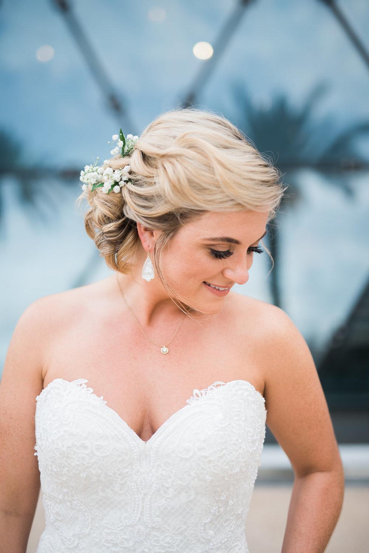 Bridal Up Do - Minimalist Wedding - Tampa Wedding Venue