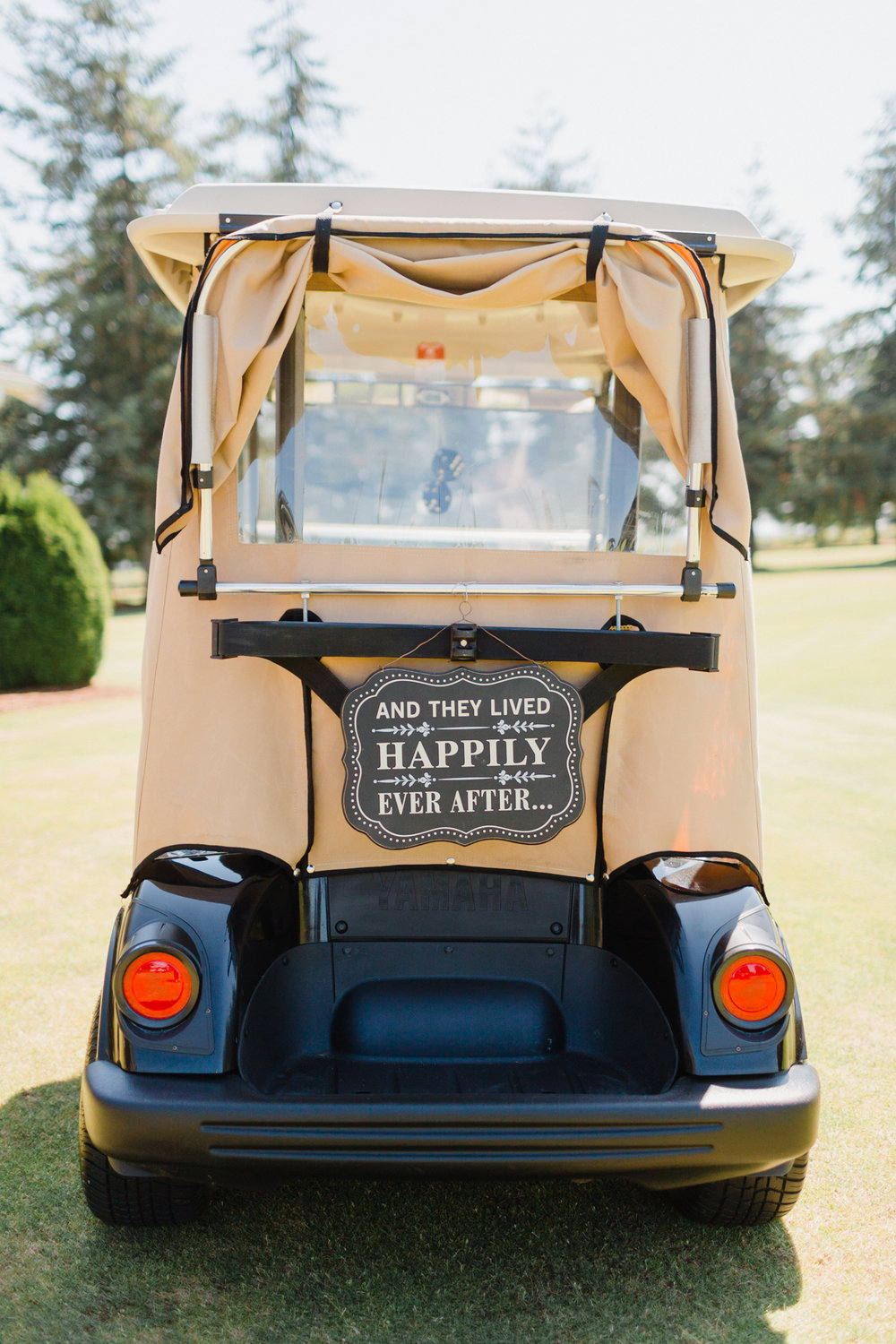 A Rustic Raspberry Ridge Golf Course Wedding — The Overwhelmed Bride on ford think electric golf cart, burning man golf cart, pink golf cart,