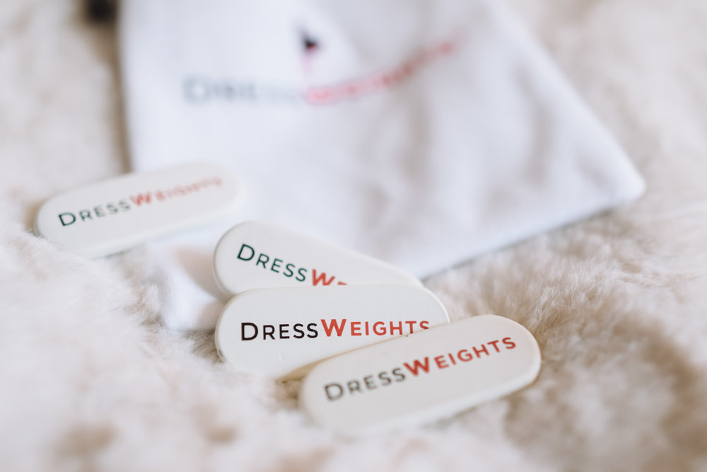 Dress Weights - Keep Your Flowly Dress From Flying Up in The Wind - The Overwhelmed Bride Wedding Blog