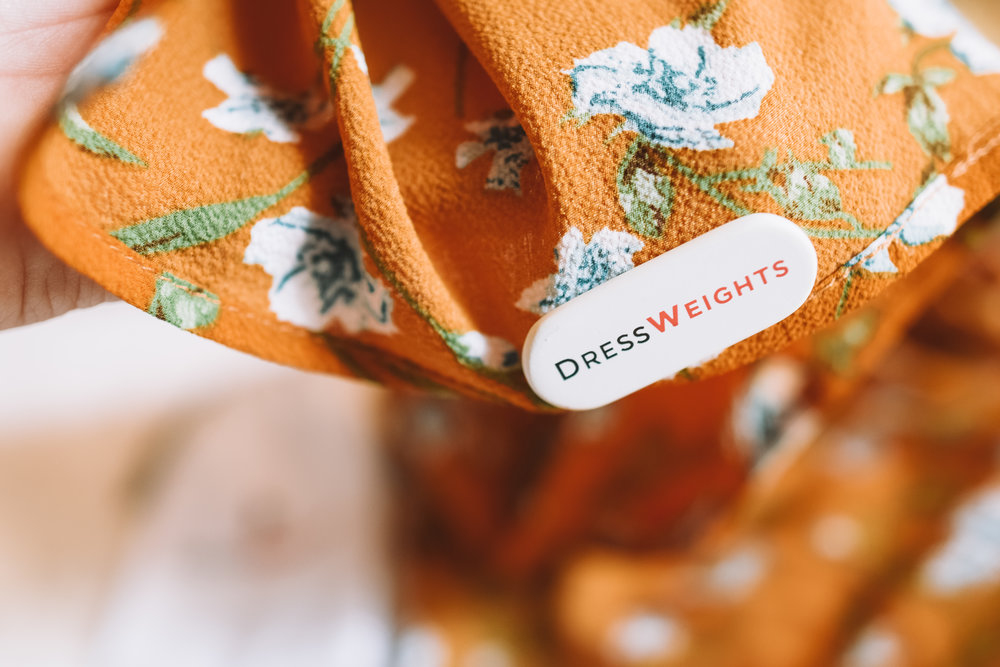 Dress Weights - Keep Your Flowy Dress From Flying Up in The Wind - The Overwhelmed Bride Wedding Blog