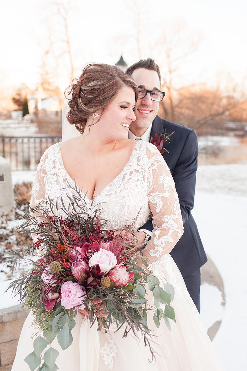 A Romantic Burgundy + White Wisconsin Winter Wedding — The Overwhelmed Bride Wedding Blog