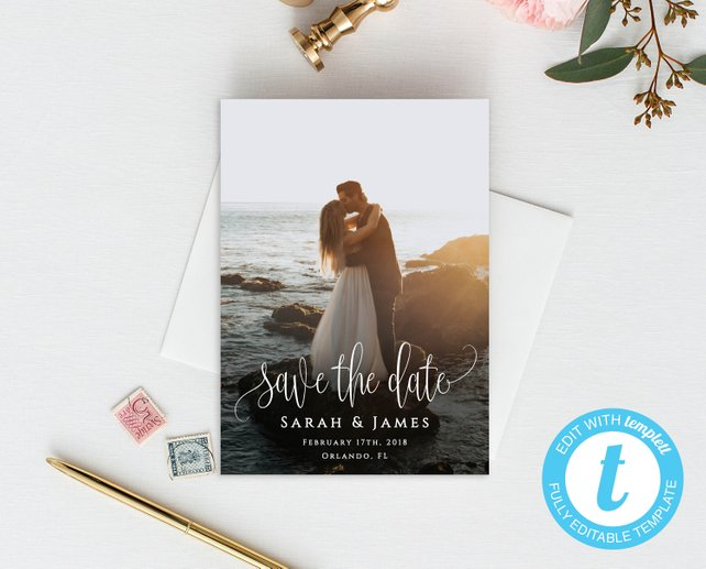Simple Wedding Save the Dates - The Overwhelmed Bride Wedding Blog