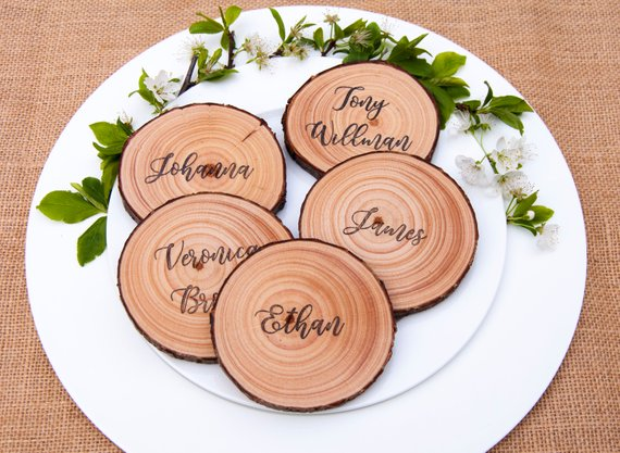 Unique Wedding Place Cards - The Overwhelmed Bride Wedding Blog