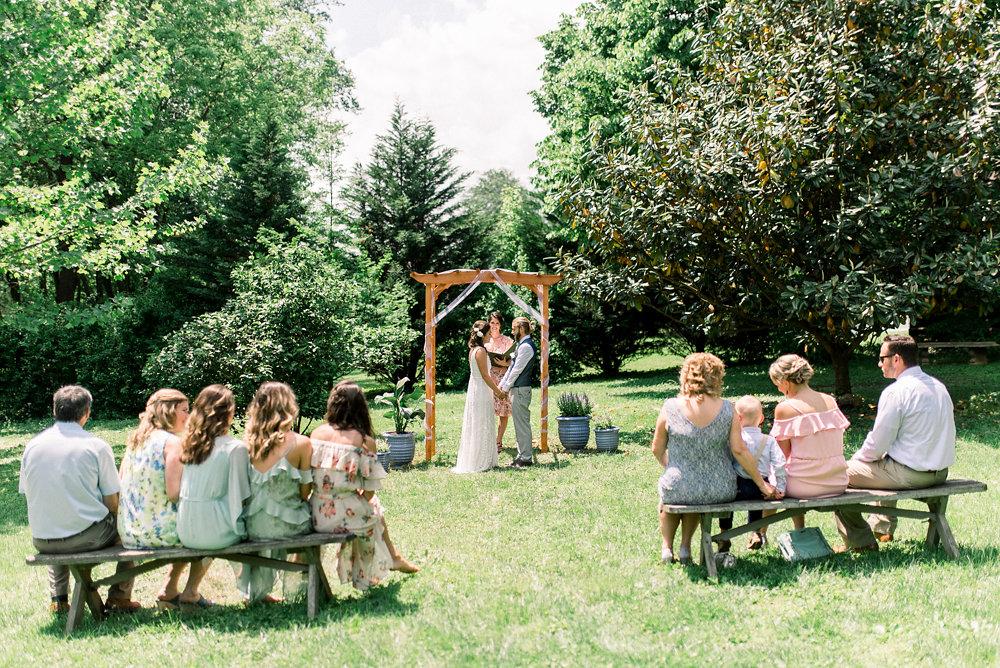 An Intimate Backyard Wedding - The Overwhelmed Bride Wedding Blog