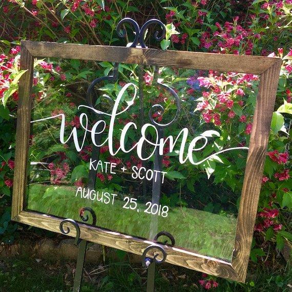 Gorgeous Fun Unique Wedding Signs - The Overwhelmed Bride Wedding Blog
