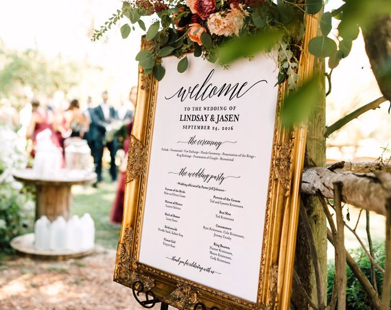 Gorgeous Fun Unique Wedding Signs - The Overwhelmed Bride Wedding Blog