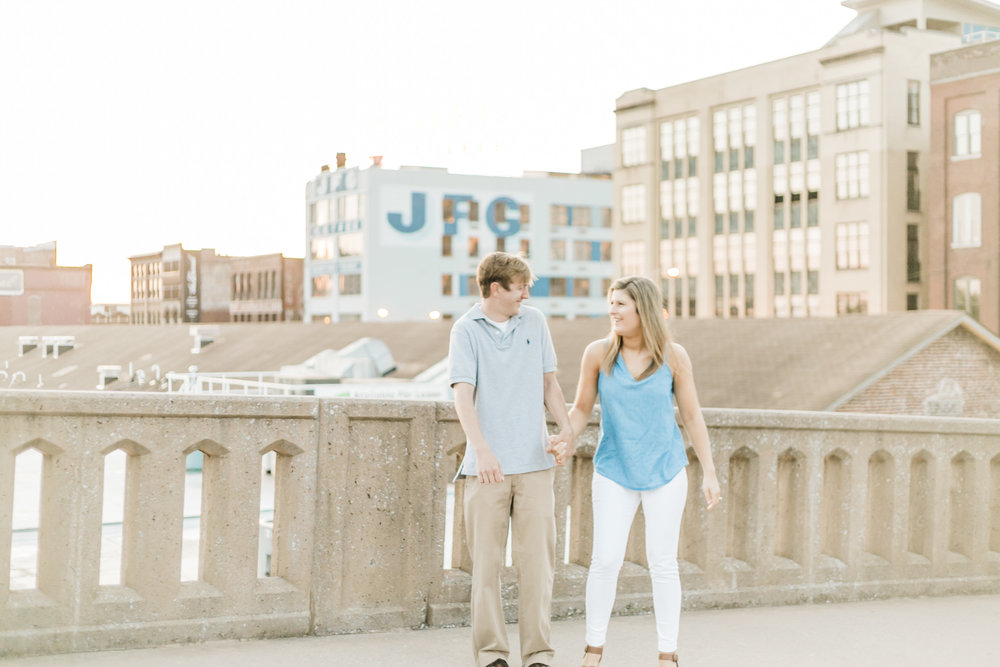 Downtown Knoxville, Tennessee Engagement Photos - The Overwhelmed Bride Wedding Blog