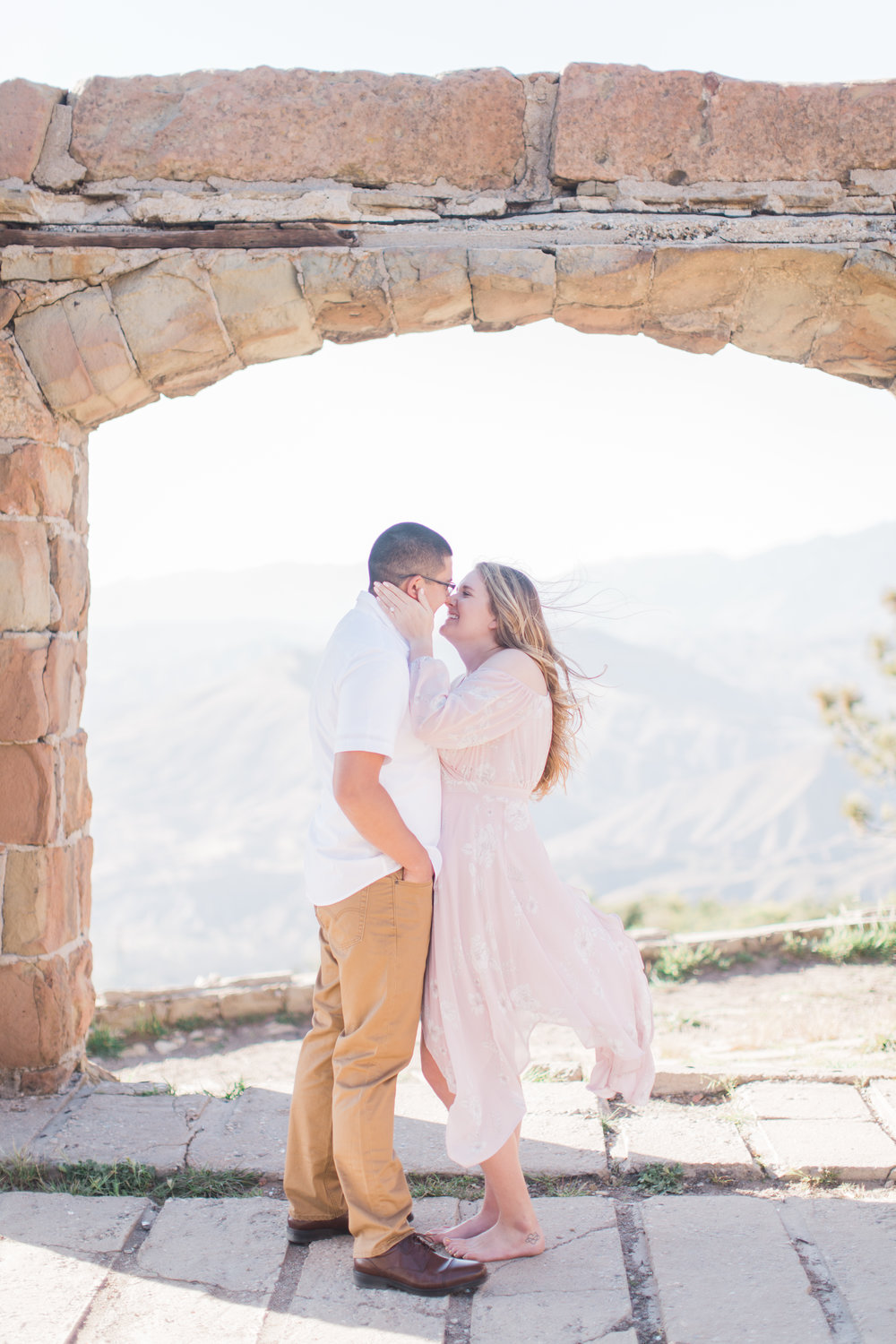 Santa Monica Mountains Engagement Photos - The Overwhelmed Bride Wedding Blog
