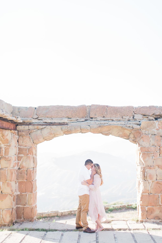 Santa Monica Mountains Engagement Photos - The Overwhelmed Bride Wedding Blog