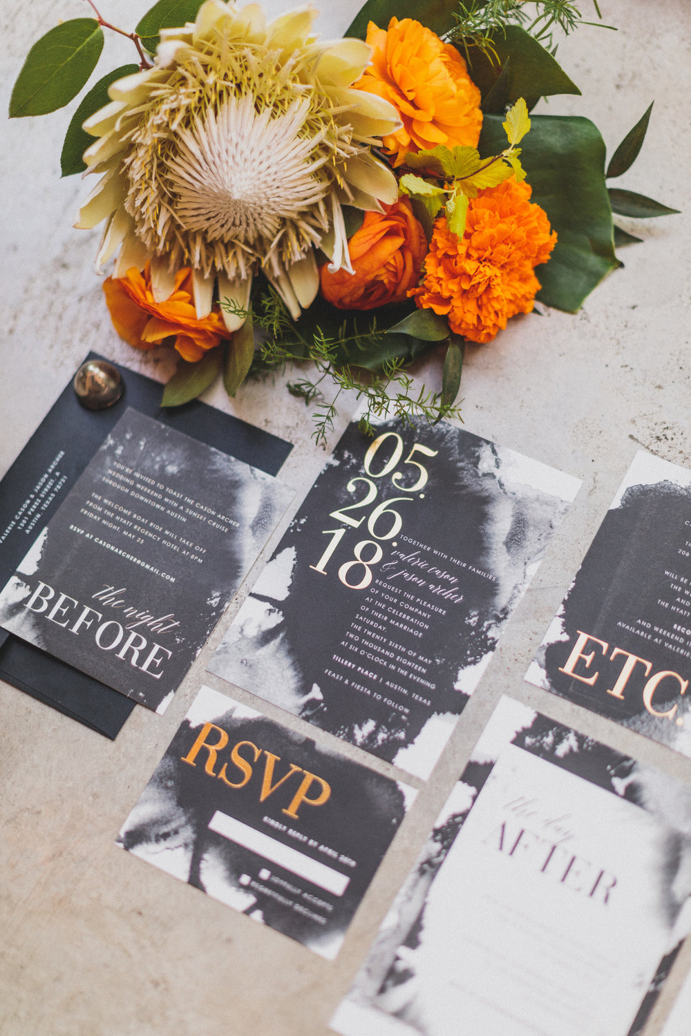 A Vibrant, Tropical Austin Wedding - The Overwhelmed Bride Wedding Blog Inspiration