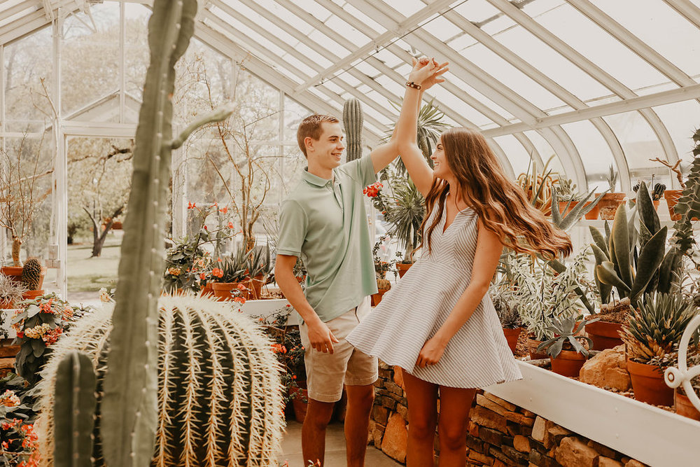 A Stunning Greenhouse Engagement - The Overwhelmed Bride Wedding Blog