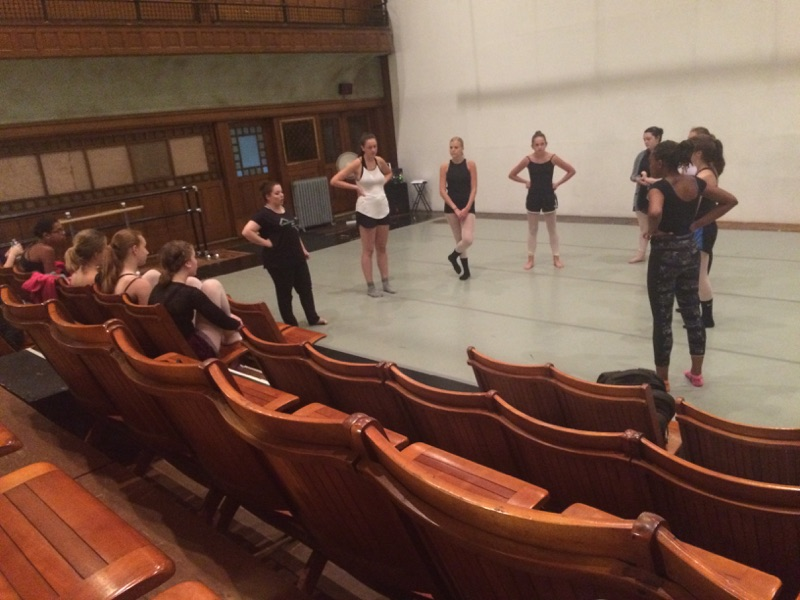 Megan Gargano, co-artistic director of The Movement Project, chats with her students.