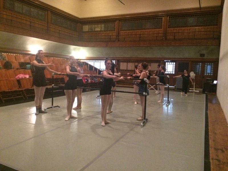 Tracks 2 and 3 in ballet with Rebecca Leuszler, co-artistic director of The Movement Project.