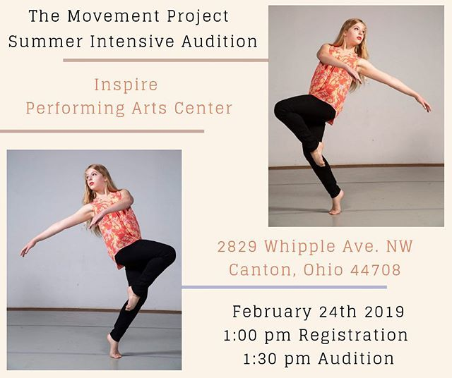 We are coming Canton! . . TMP is looking for dancers to work with us this summer. This intensive is geared for serious-minded movers interested in furthering themselves as creative artists. . COME DANCE WITH US!