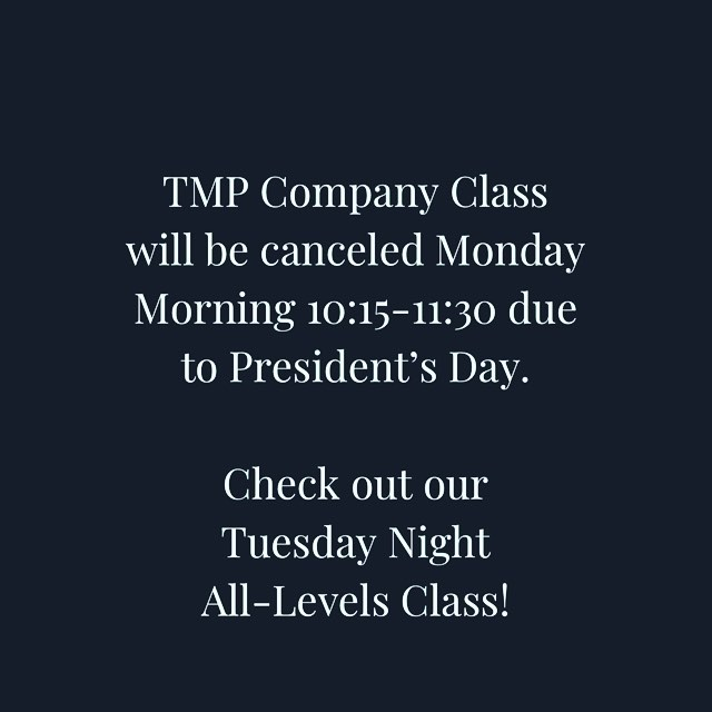 TMP REMINDER! It's not to late to sign-up for our Tuesday 7:30pm Contemporary-Modern Class with Grace! #community #comemovewithus