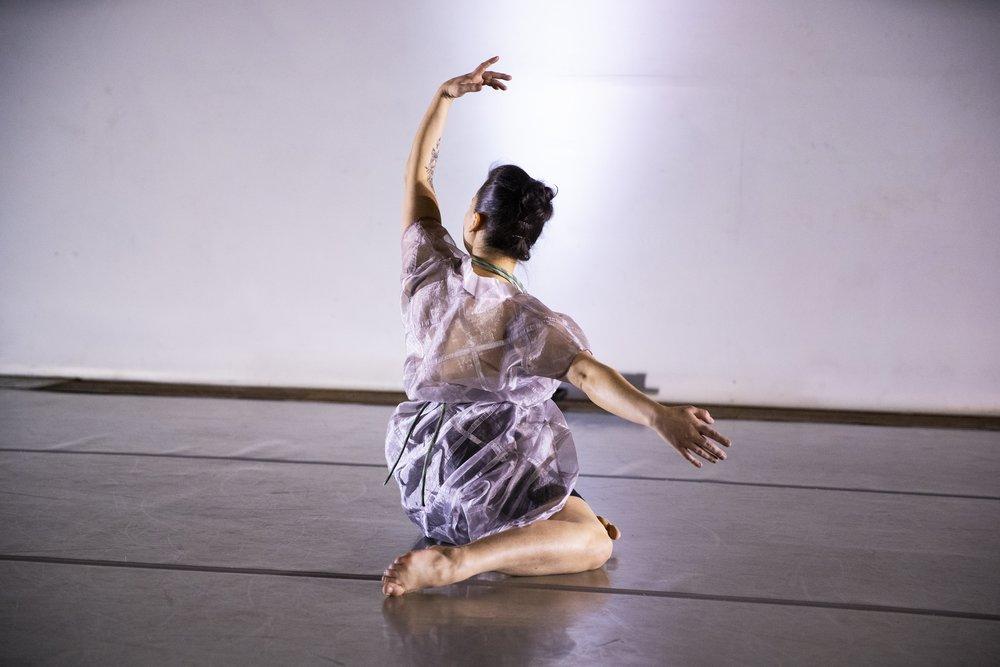 Photo Credit: Black Valve (photographer), Rebecca J. Leuszler (dancer), Maile Okamura (costume design), Pam Tanowitz (choreographer)