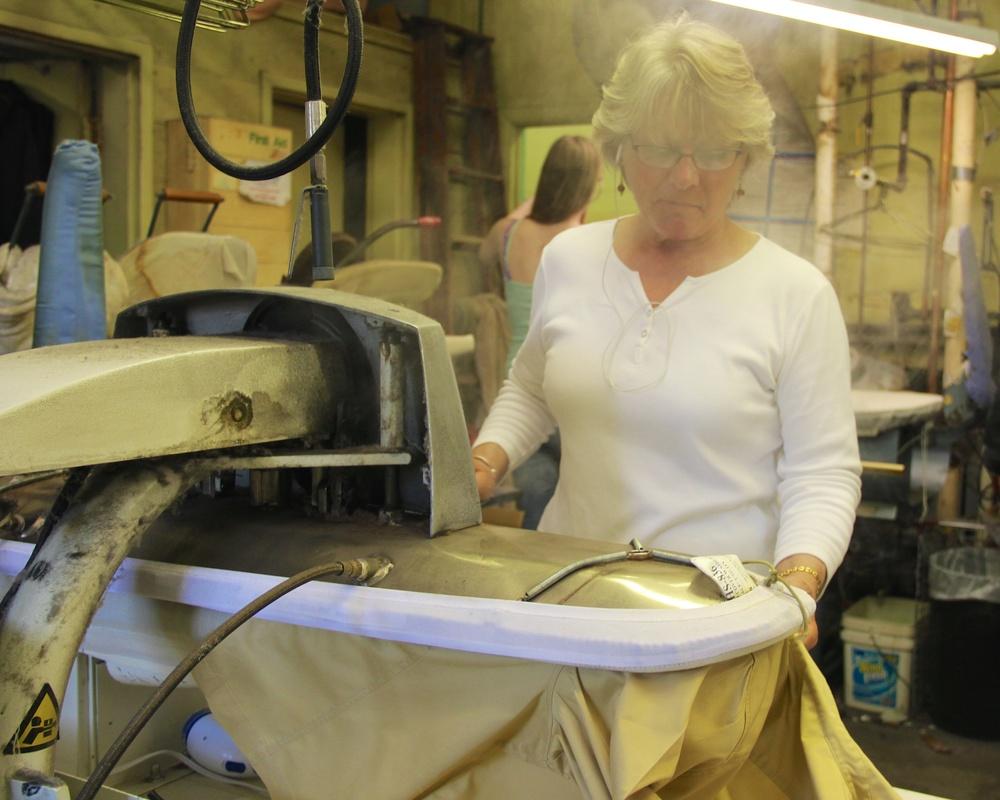 Patty pressing a blouse.jpg