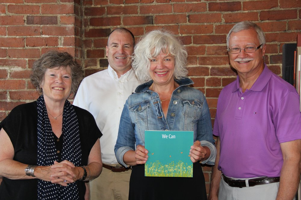 From left: Susan Kress Hamilton, designer, Phineas Graphic Design / Printing Solutions; Herb Perry, Perry Communications; Cynthia Tokos, marketing director, Monarch School of New England; and Bill Hamilton, Phineas