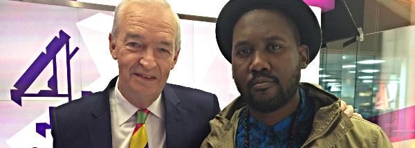 Ferguson's Tef Poe with Jon Snow from Channel 4