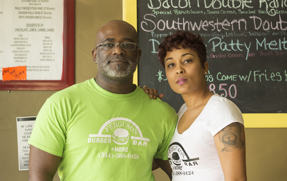 Husband-and-wife team Charles and Kizzie Davis, owners of Ferguson Burger Bar & More.