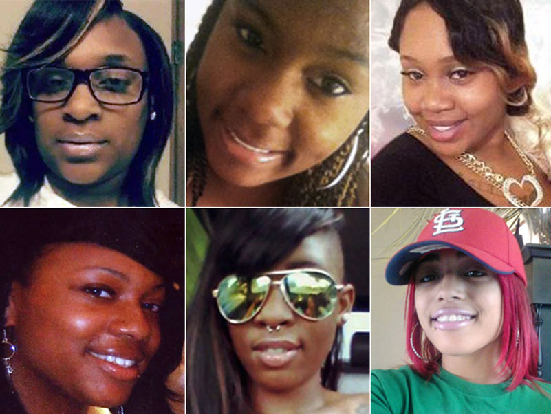Photos from left, clockwise: Angelica Wysinger, Angelia Mangum, Ke-Erica D. Bolden, Antquonette Hale, Tjhisha Ball, and Korie Hodges.