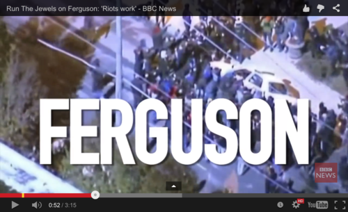 Ejecute Las Joyas: Disturbios trabajado para Ferguson