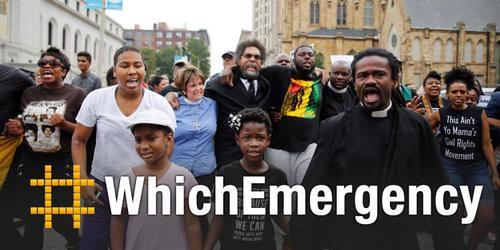 Activistas Hands Up Unidas disparan de vuelta en 'estado de emergencia' Ferguson con #WhichEmergency