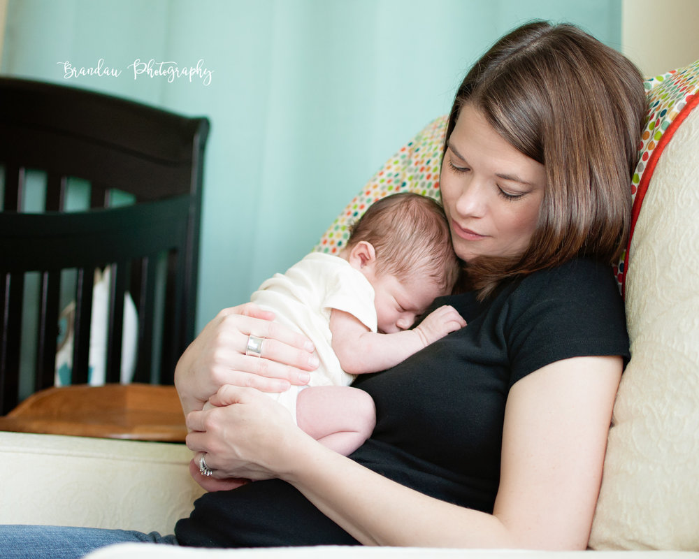 Brandau Photography- Newborn with Mom - Central Iowa