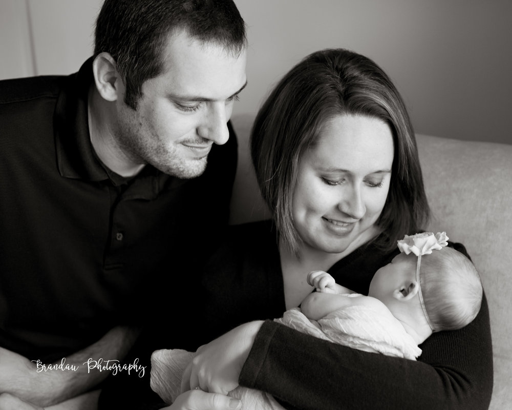 Brandau Photography- Newborn with Parents - Central Iowa - Ankeny Iowa