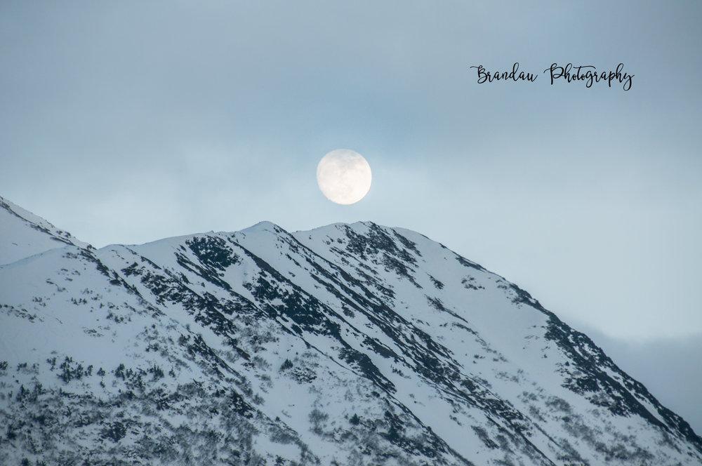 Brandau Photography - Full Moon - Mountains - Alaska