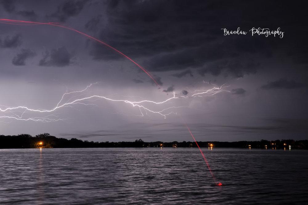 Brandau Photography - Fishing - Lightening Storm
