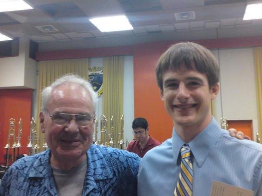 With Phil Wilson at International Trombone Association Festival in Austin, TX