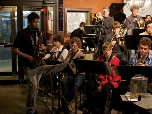 With Daniel Jamieson's Jazz Orchestra at the Rex in Toronto