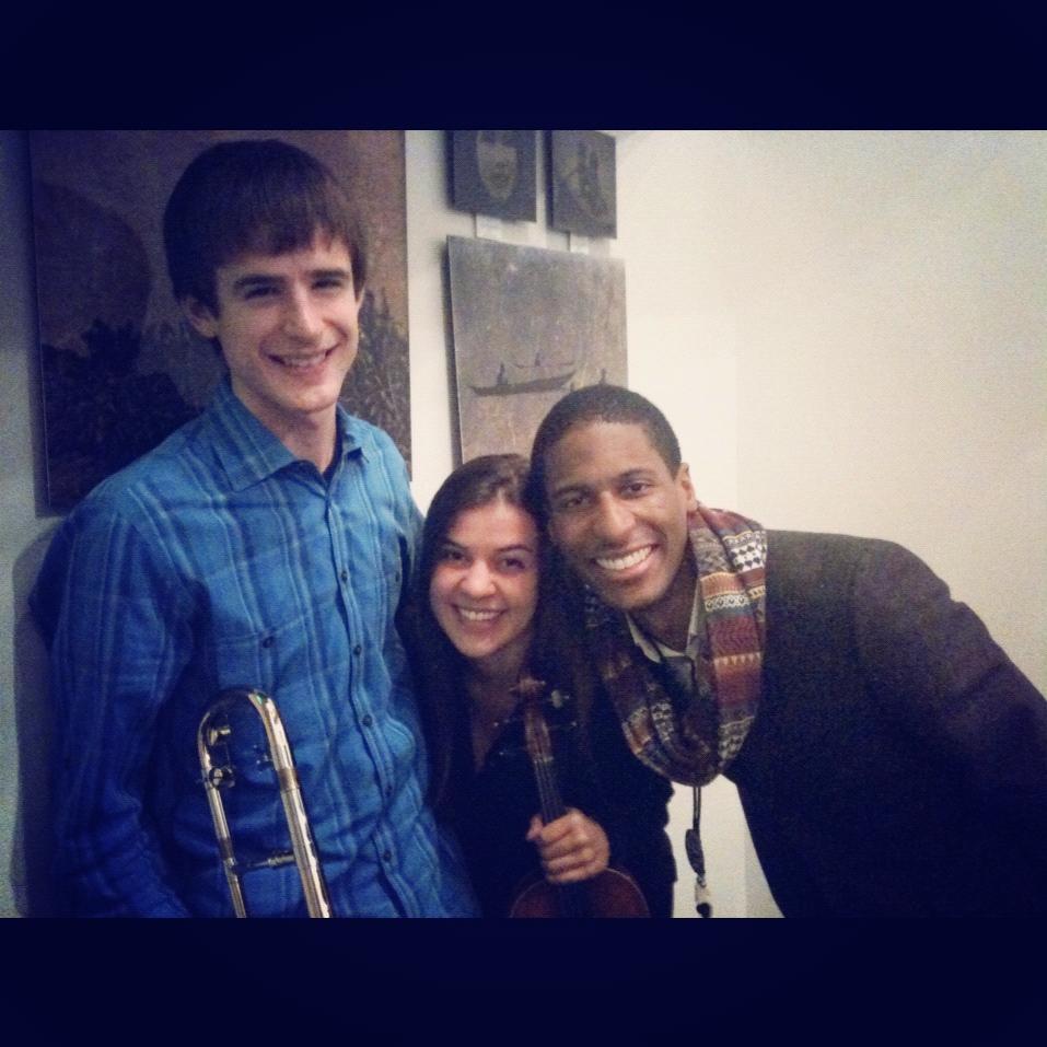 With Nora Germain and Jonathan Batiste