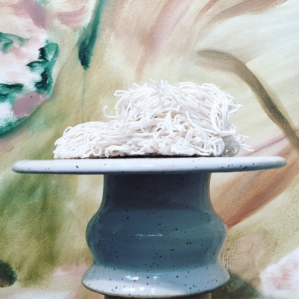 And a cake pedestal with some noodles of course (painting by the fabulous Steve Hubert @hubes1000 )