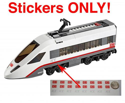 Db Ice Stickers For Lego 60051 High Speed Passenger Train Home