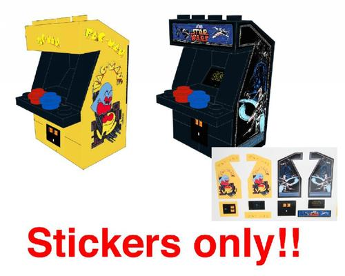 PacMan and Star Wars Arcade stickers for LEGO stickers — Home
