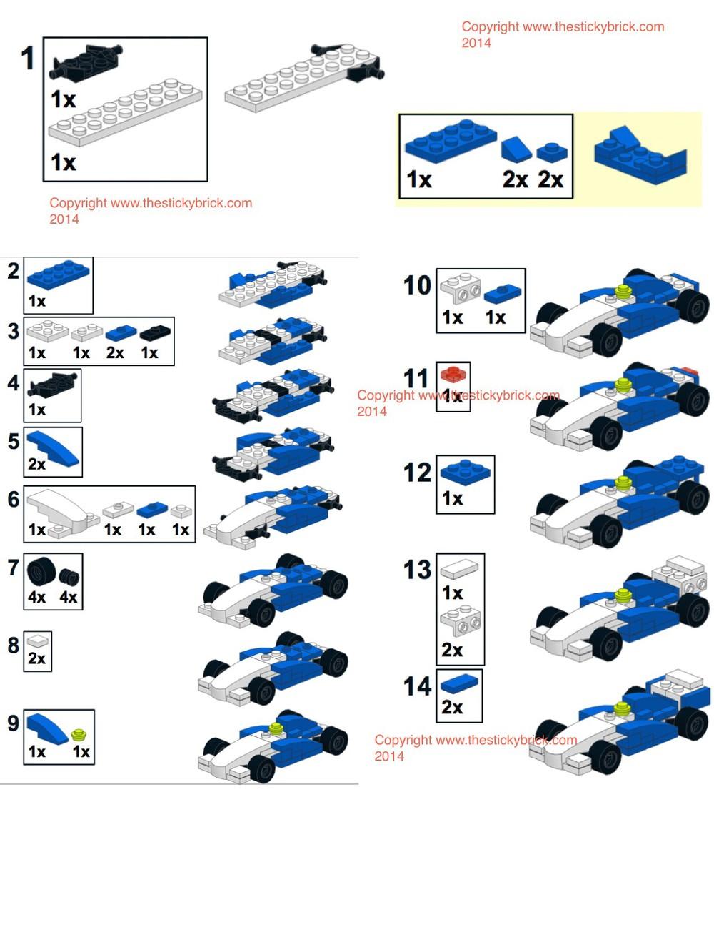 LEGO Ferrari 40190 stickers