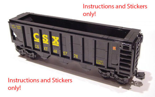 Lego Csx Hopper Instructions And Stickers Home