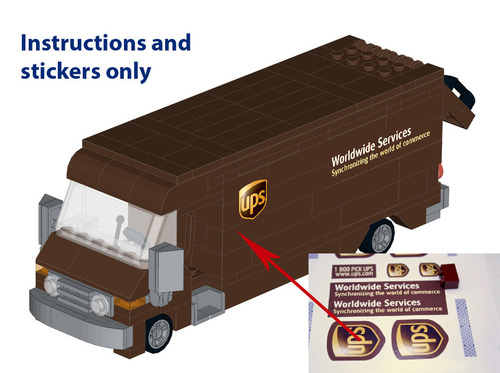 Lego Ups Truck Instructions And Stickers Home