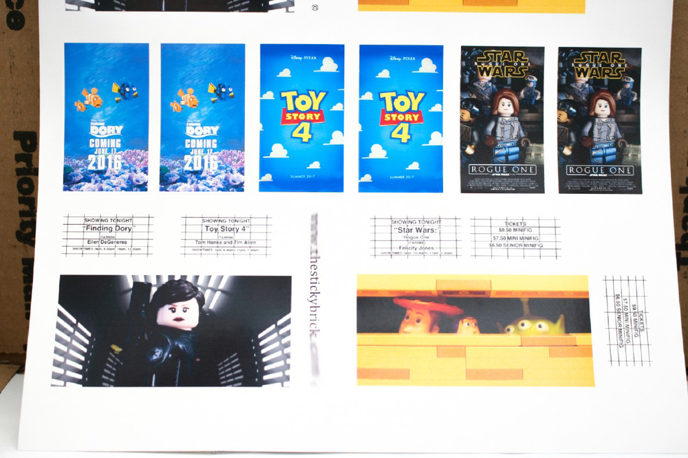 Star Wars Rogue One Finding Dory Toy Story 4 Movie Posters