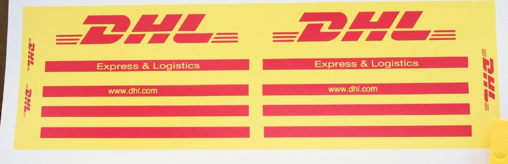 Dhl Truck Stickers For Lego 3221 Set Home
