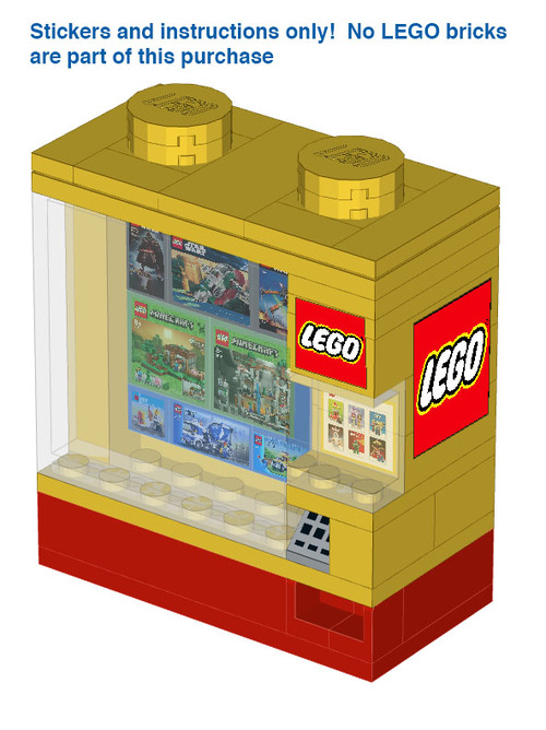 Lego Vending Machine Instructions And Stickers Home