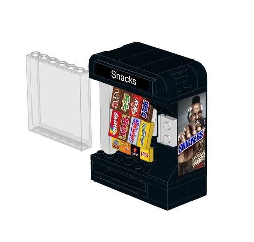 Snack Vending Machine Instructions And Stickers For Lego Home