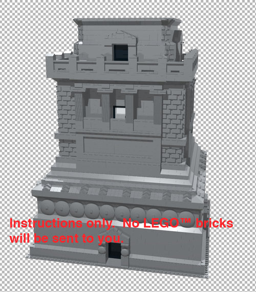 Gray Statue of Liberty Base and LEGO™ 3450 Instructions — Home