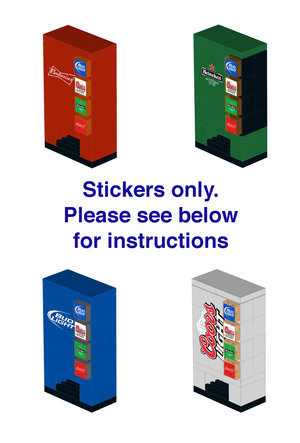 Lego Vending Machines Instructions And Stickers Home