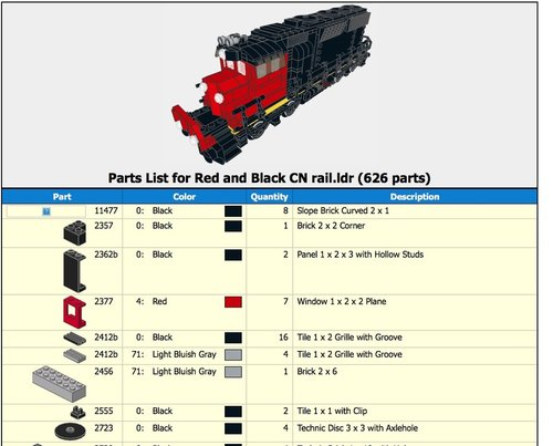 Emd Sd 40 Blackred Cn Train Instructions Pdf Only Home