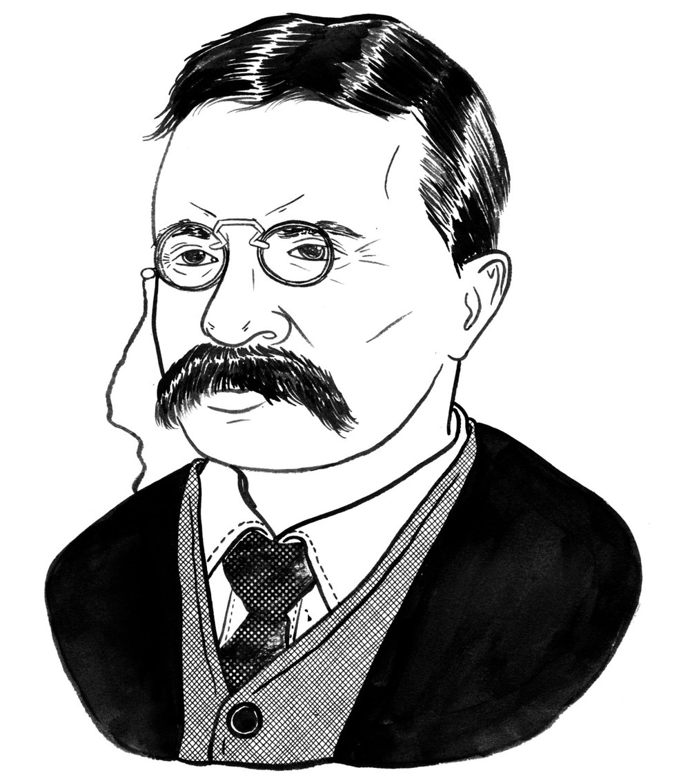 I pre-inked a portrait of Teddy Roosevelt to prep for a digital demo I am doing during a class I teach at City Tech in Brooklyn. I really liked it so I thought I would share.